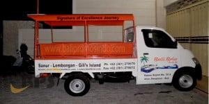 Branding mobil pick up di bali