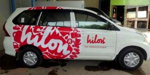 Branding Mobil hilon bali