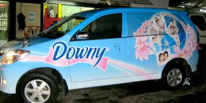 Branding mobil downy denpasar