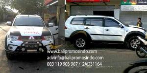 Branding mobil pajero di bali
