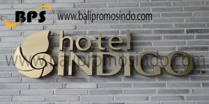 Huruf timbul hotel indigo
